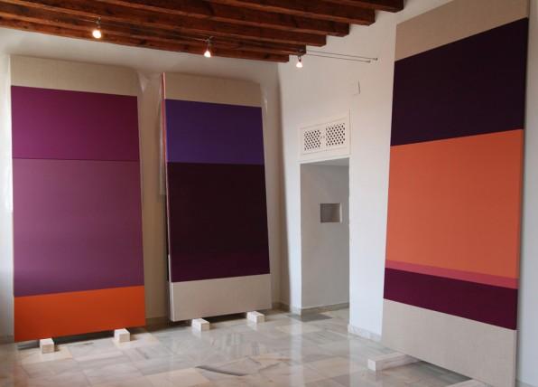 Serie Floracikón. Instalación en el estudio de la artista.