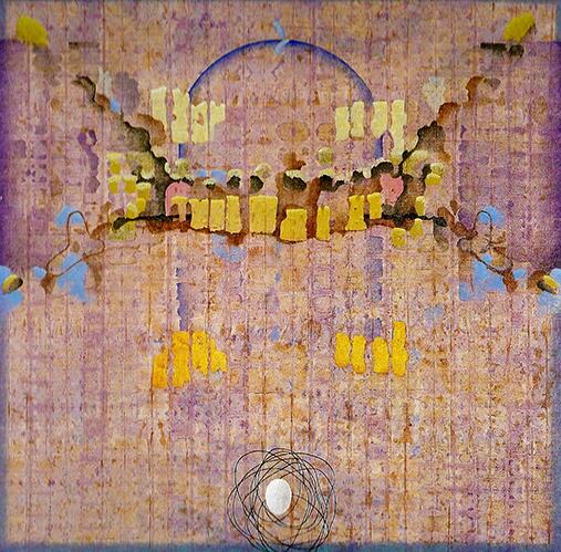 A Piero Della Francesca 2002 Temple sobre lienzo 115 x 115 cm