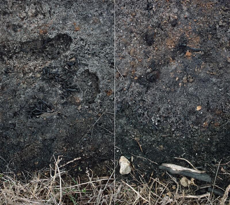 Negro Tierra I y II. Díptico. 100 x 112 cm. Fotografía digital sobre dibond.