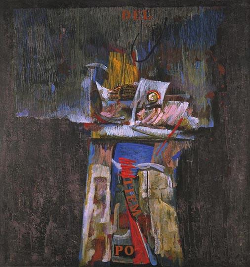 La noche de un tiempo. 1992. Temple sobre lino. 210 x 195 cm.