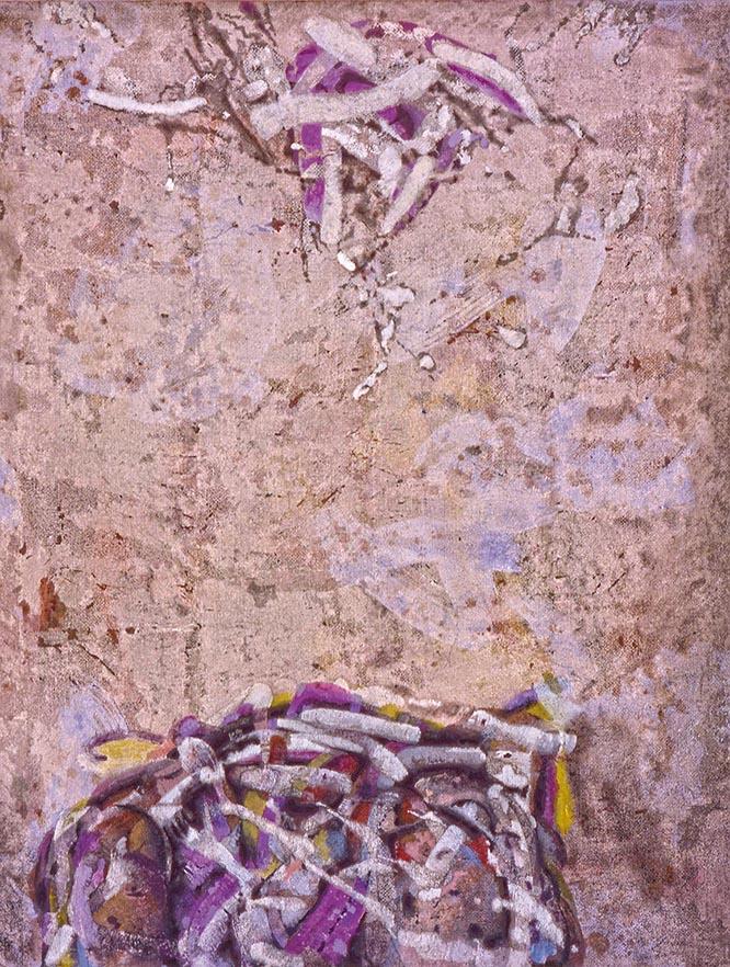Túmulo para los Ming. I. 1983. Temple sobre lino. 125 x 100 cm.