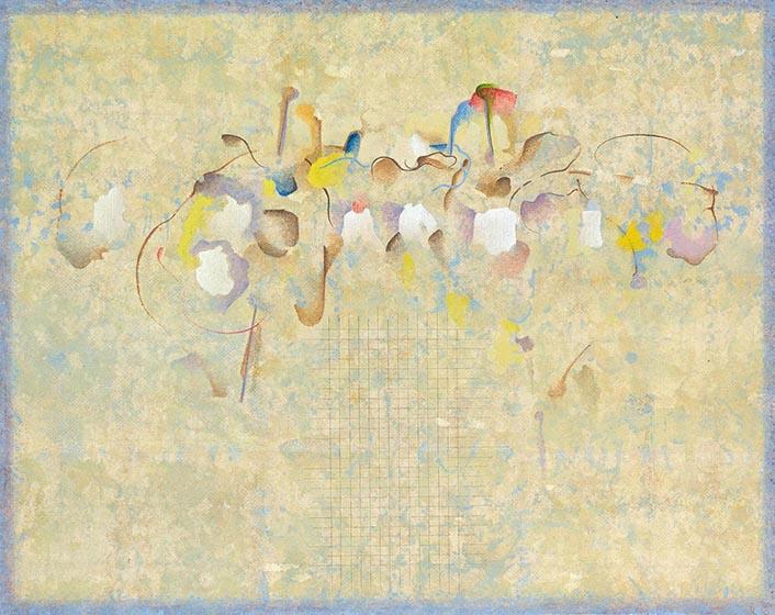 Escuchando a Johnny Cash. 2012. Temple sobre lino. 64 x 80 cm.